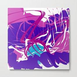 Splashing Watery Planet Abstract Art Metal Print