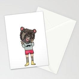 Bear Child Stationery Cards