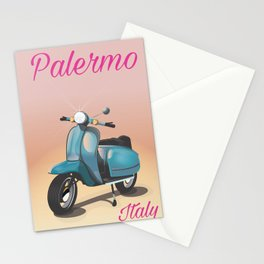 Palermo Italy travel poster Stationery Cards
