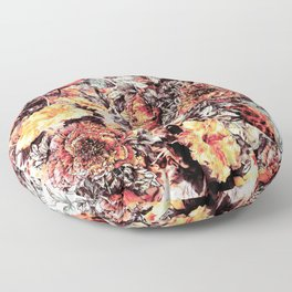 RPE FLORAL ABSTRACT Floor Pillow