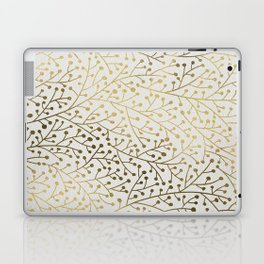 Gold Berry Branches Laptop & iPad Skin
