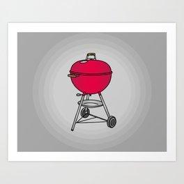 BBQ Barbecue Art Print