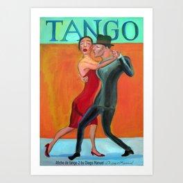 Afiche de tango 2 por Diego Manuel Art Print