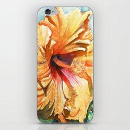 Tropical Yellow Hibiscus iPhone Skin