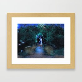 Entering Sherwood Forest Framed Art Print