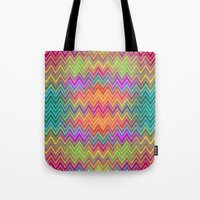 hippy Tote Bags featuring Hippy 2 by HK Chik