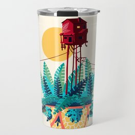 Potted house with plants Travel Mug