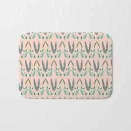 Watercolor Leafy Pattern Bath Mat