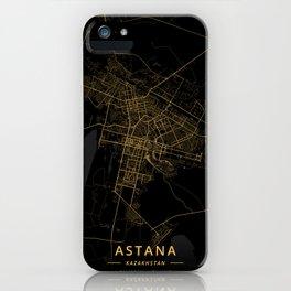 Astana, Kazakhstan - Gold iPhone Case