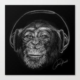 monkey music - scimmia musica - musique de singe - música mono Canvas Print