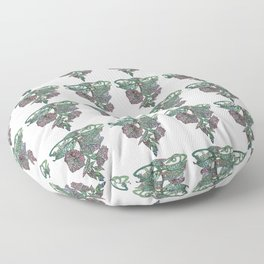 Vintage Style Morning Glory Repeat Polka Dot Pattern Floor Pillow
