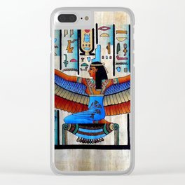 Goddess Isis Clear iPhone Case