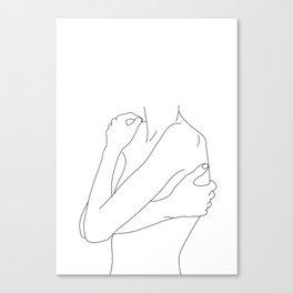 Woman's body line drawing illustration - Dahl Canvas Print