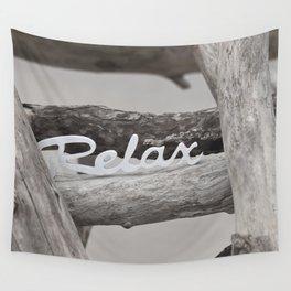 Relax driftwood summer beach Wall Tapestry
