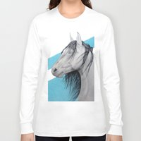 mustang Long Sleeve T-shirts featuring Mustang by Putrizia Pine