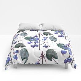 Watercolor Blueberries Comforters