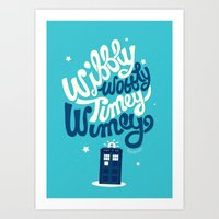 risa rodil Art Prints featuring Wibbly Wobbly Timey Wimey by Risa Rodil