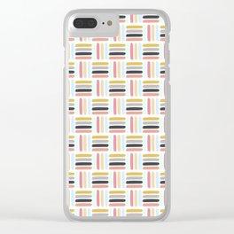 AFE Modern Basket Weave Clear iPhone Case