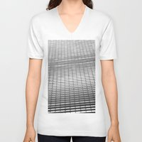 gray pattern V-neck T-shirts featuring Gray Pattern by theGalary