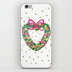 Xmas Heart Wreath iPhone & iPod Skin