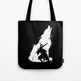 Wolf Knight Tote Bag