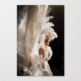 Lola In White Canvas Print