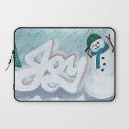 Joy Snowman Christmas Laptop Sleeve