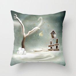 Winter Season Throw Pillow