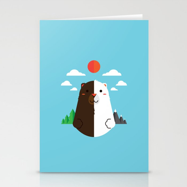 Grizzly & Polar Stationery Cards