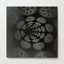 Dark Abyss Tubular Mandalas 1 Metal Print