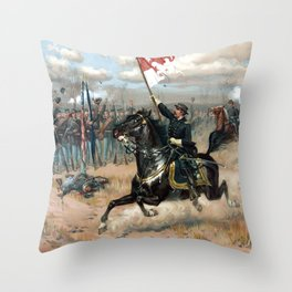Sheridan's Ride -- American Civil War Throw Pillow