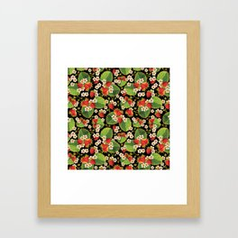 Strawberries Botanical Framed Art Print