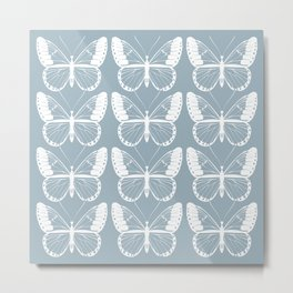 Butterflies (Cornflower) Metal Print