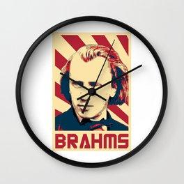 Johannes Brahms Retro Wall Clock
