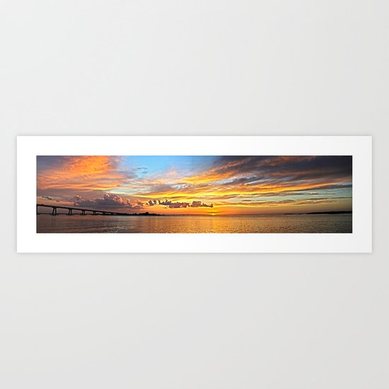 Sunset Pano  Art Print
