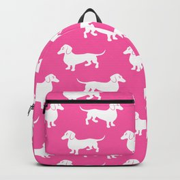 Pink Dachshunds Backpack