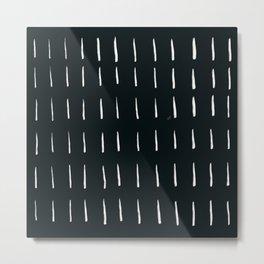 MOD_DashedLines_Charcoal Metal Print