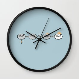 Cloudy Mornings Wall Clock