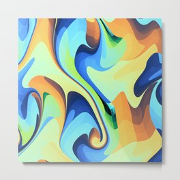 Color waves Water and Sun Metal Print