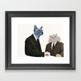 Cat Chat Framed Art Print