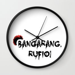 Bangarang Rufio Wall Clock
