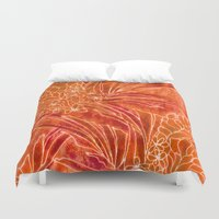 spice Duvet Covers featuring Spice Island by Vikki Salmela