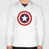 superhero Hoodies featuring Superhero captain by Yuliya L
