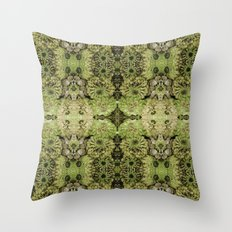 Forest fairy floral,nature, woodland, hippie, mandala, psychedelic Throw Pillow