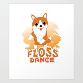 Floss Dance Move Corgi Art Print