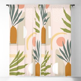 The Shapes of Nature - Pattern 1 green Blackout Curtain