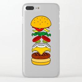 Burger Anatomy Clear iPhone Case