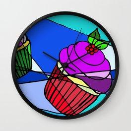 Cupcakes as a Church Window Wall Clock