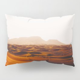 Minimalist Desert Landscape Sand Dunes With Distant Mountains Pillow Sham