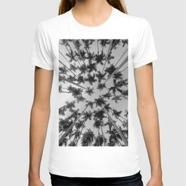 Above Palm Trees (Black and White) T-shirt